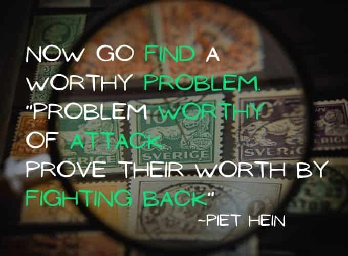 Start solving your problems courageously